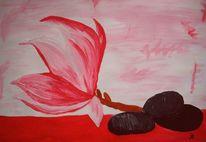 Magnolien, Malerei
