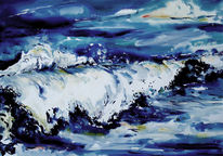 Meereslandschaft, Aquarell