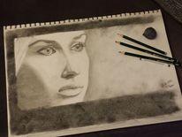 Gesicht, 2013, Zeichnen, Schwarz weiß