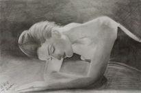 Frau, Zeichnung, Zeichnungen,