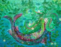 Märchenhaft, Traumwelten, Malerei, Meerjungfrau