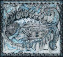 Tanglic, Mantje timpe te, Zeichnung auf papier, Zeichnungen