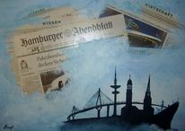 Collage, Hamburg, Malerei