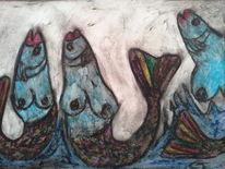 Brust, Fischfrauen, Fischen, Frau