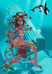 Meerjungfrau, Schwertwal, Sirene, Nixe