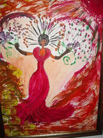 Umranden, Zarten, Malen, Acrylmalerei