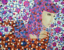 Park bom, Kpop, Portrait, Malerei