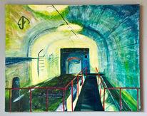 Acrylmalerei, Gegenständlich, Gebäude, Architektur