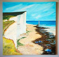 Meer, England, Kreideküste, Gegenständlich