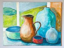 Stillleben, Krug, Vase, Haushaltsgegenstände