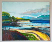 Meer, Acrylmalerei, Gegenständlich, Strand