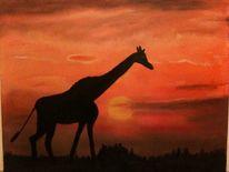 Malerei, Giraffe