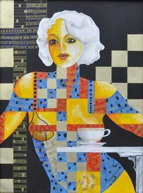 Bitte, Kaffe, Sahne, Malerei