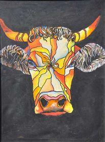 Kuh, Rund, Malerei,