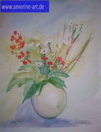 Vase, Blätter, Runde vase, Natur