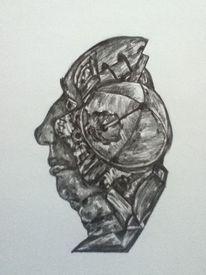 Bleistiftzeichnung, Zeichnungen, Arbeiter