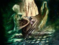 Astral leben, Kommunikation, Malerei, Stille