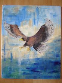 Vogel, Blau, Beute, Fliegen