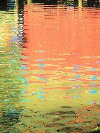 Spiegelung, Teich, Bootshaus, Wasser