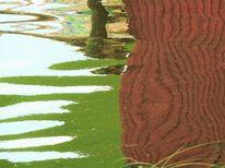 Wasser, Weiher, Spiegelung, Farben