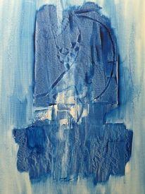Struktur, Licht, Formen, Blau