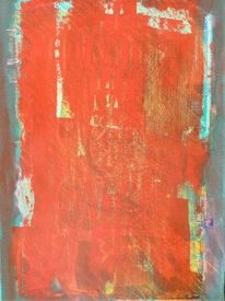Abstrakt, Farben, Frottage, Malerei