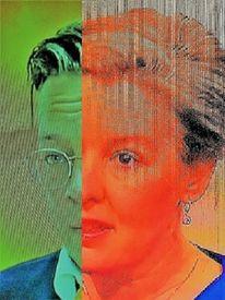Frau, Portrait, Umfrage, Politische farben