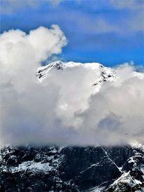 Berge, Panorama, Wolken, Wetter