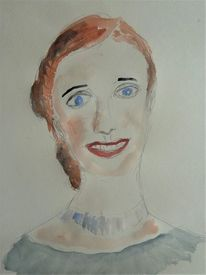 Gesicht, Aquarellmalerei, Menschen, Frau