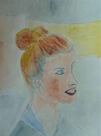 Portrait, Frisur, Gesicht, Menschen