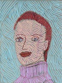 Gesicht, Frau, Portrait, Frisur