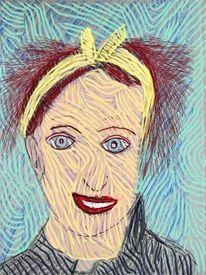 Frau, Portrait, Gesicht, Kopf