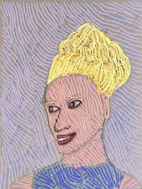 Frau, Frisur, Portrait, Haare