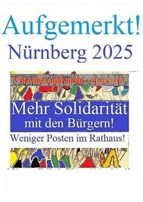 Solidarität, Rathaus, Nürnberg 2025, Weniger posten