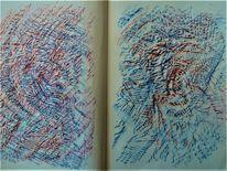 Buch, Abstrakt, Skizze, Zeichnungen