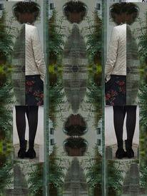 Wandlung, Portrait, Verwandlung, Spiegelung