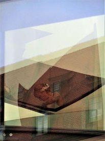 Architektur, Spiegelung, Braut, Glas