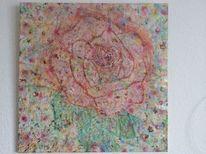 Blumen, Rose, Wiese, Malerei
