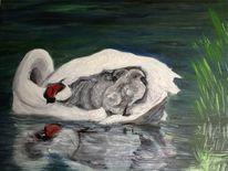 Öl auf acryl, Malerei
