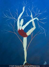 Ballerina, Baum, Tanz, Malerei