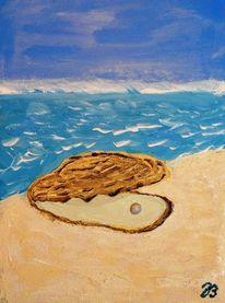 Sand, Muschel, Meer, Perlen