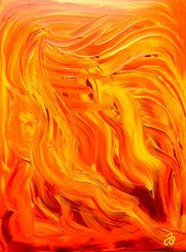 Engel, Haare, Abstrakt, Acrylmalerei