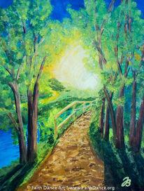 Dämmerung, Baum, Sonne, Landschaft