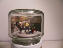 Diorama, Figur, Hermannplatz, Marmeladenglas