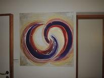 Moderne malerei, Abstrakt, Violett, Abstrakte kunst