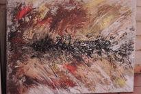 Abstrakt, Acrylmalerei, Braun, Moderne kunst