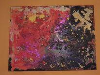 Edel, Abstrakt, Acrylmalerei, Moderne kunst