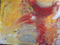 Farbenfroh mit lichtblick, Malerei