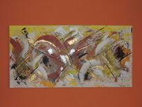 Kräftig, Abstrakte malerei, Einrichtung, Meditation