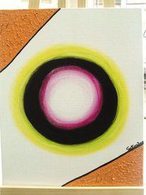Acrylmalerei, Kreis, Sonne, Ball
